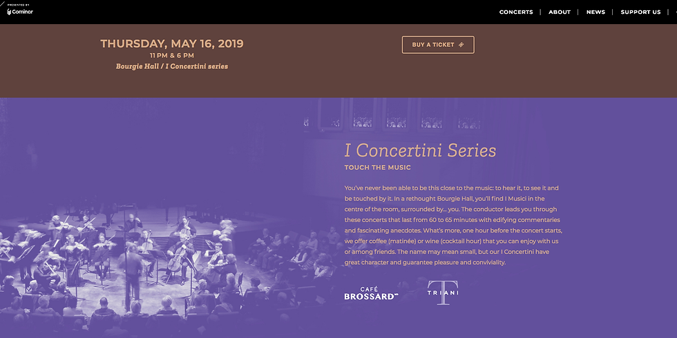 I Concertini Series - I musici de Montréal