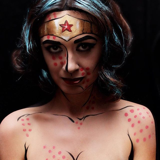 #wonderwoman #popartmakeup #makeupart #makeupbyme #makeup #facepainter #facepainting #faceart #super