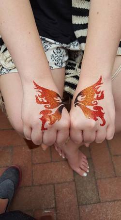 Butterfly glitter tattoo _)