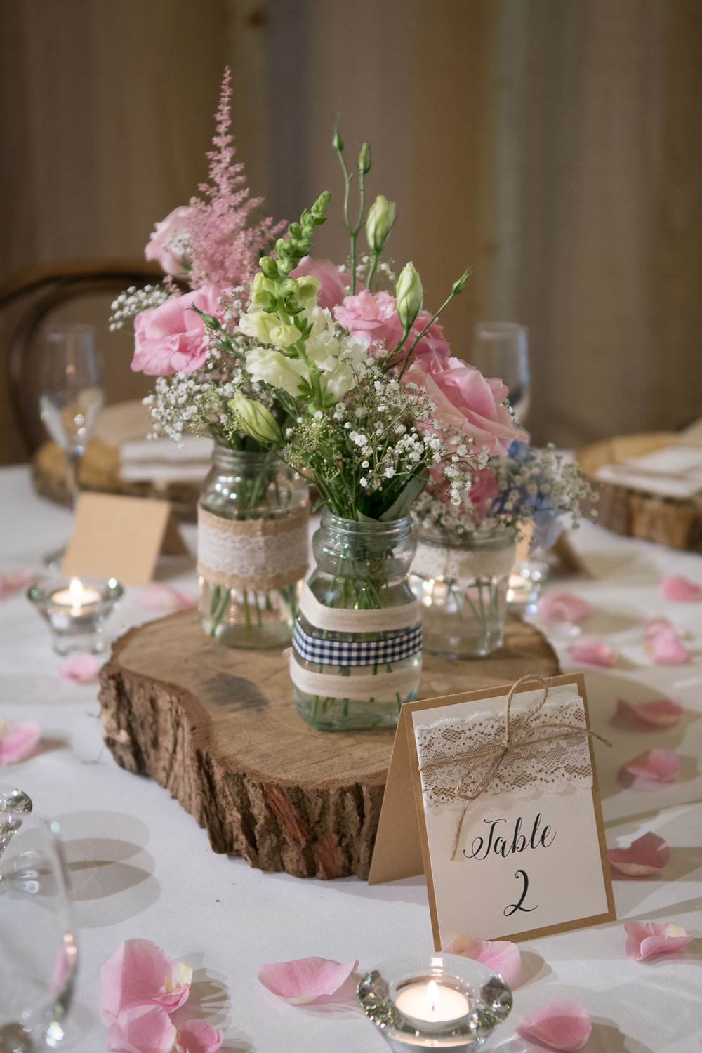 Table flower display
