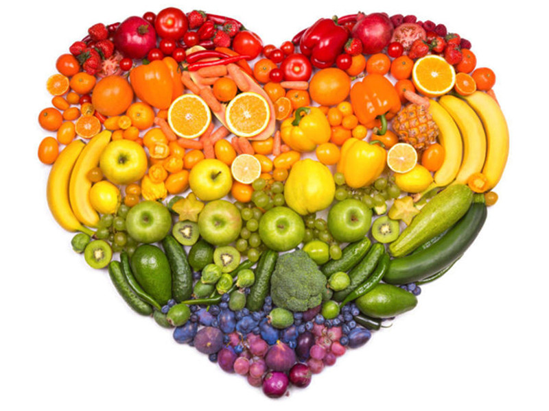 heart shaped fruit and veg plate
