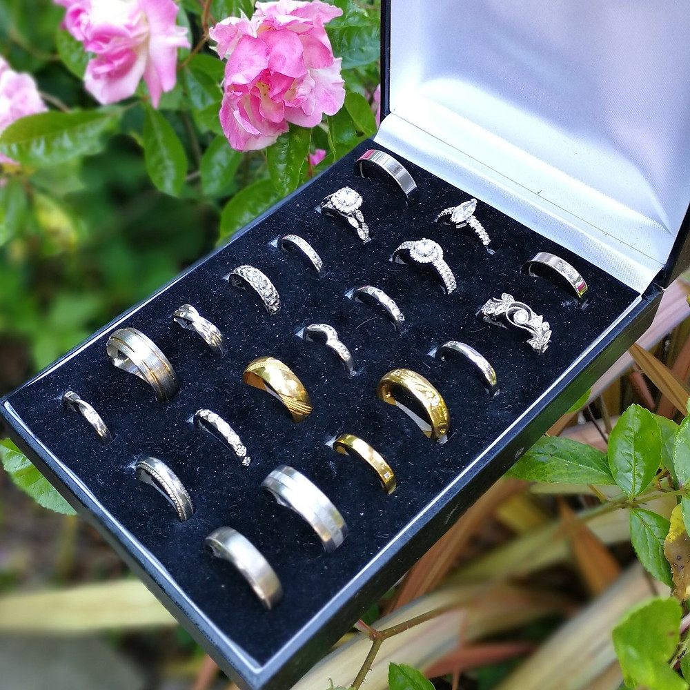 A small selection of rings from the 500+ they have to show