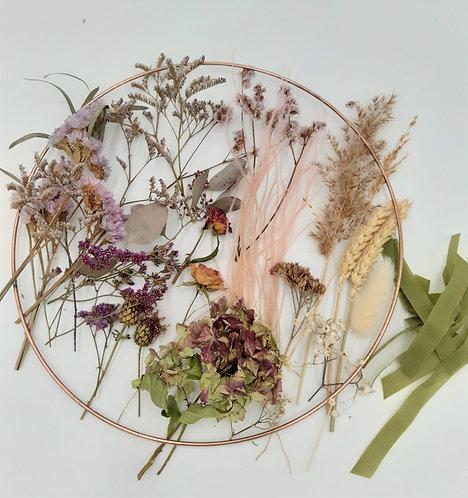 Kit Couronne de fleurs séchées