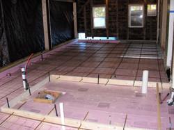 Installing Radient Floor Heat System