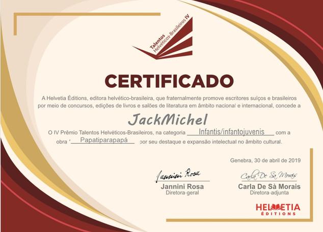 IV Talentos Helvéticos-Brasileiros  (categoria infantojuvenil)  - 2019