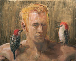 Portrait with Woodpeckers