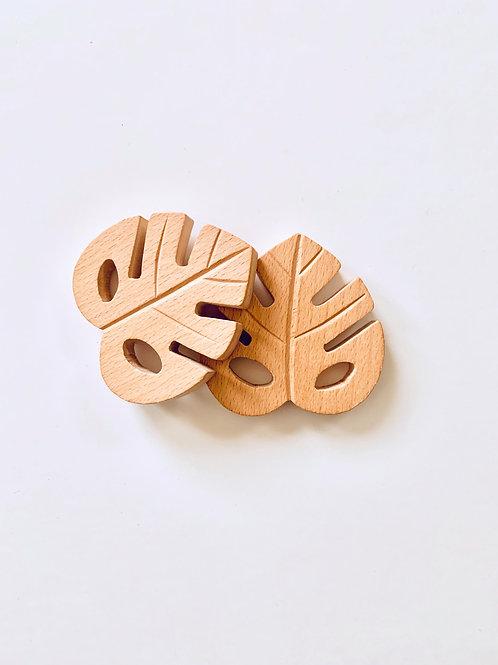 Monstrea Leaf Wooden Teether