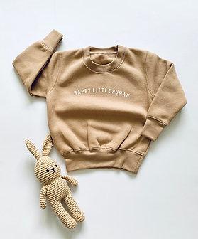 Mocha Happy Little Human Sweatshirt