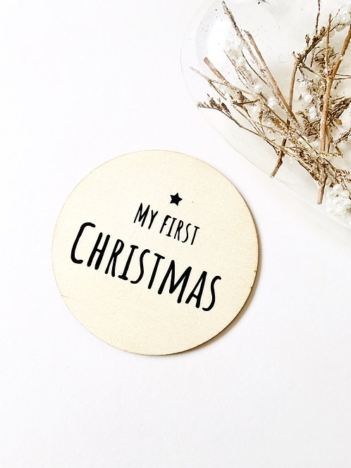 My First Christmas  Wooden Disc