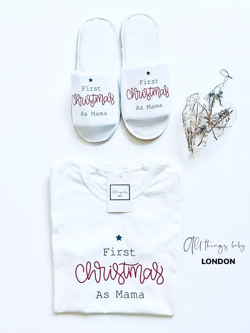 First Christmas As Mama Gift Set