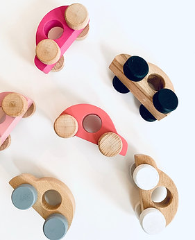 Set of 3 Wooden Toy Cars