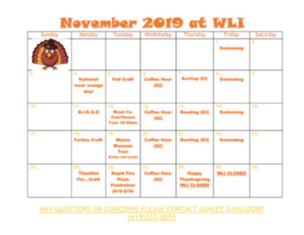 Microsoft Word - CI Calender - November