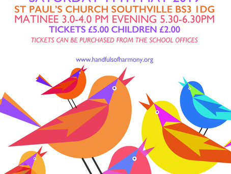 Sat 11 May 2019, 3pm & 5.30pm - Spring Concerts