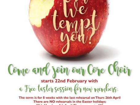FREE choir session, this Thursday, 22 Feb