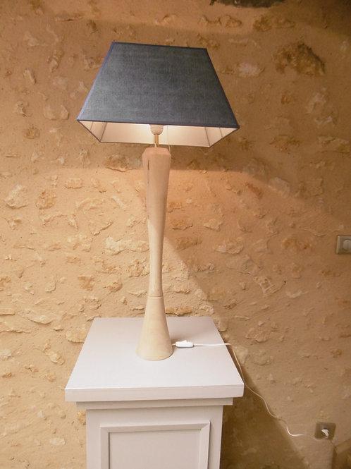 LAMPE ABAT-JOUR BLEU CARRE