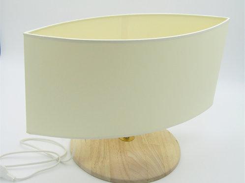 PIED LAMPE PLAT ET ROND ABAT JOUR OVALE POINTU
