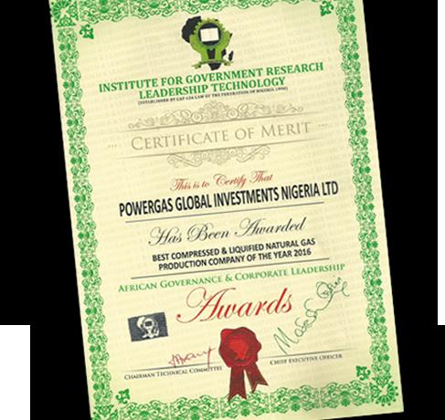 CNG Nigeria Powergas Company of the Year Award