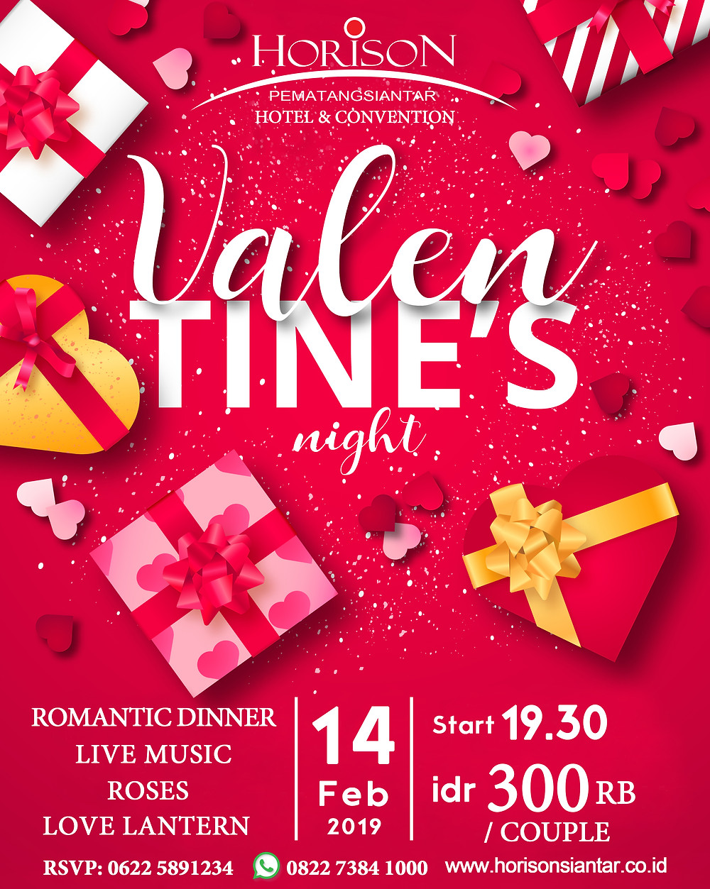 Valentine Dinner Hotel Horison Siantar