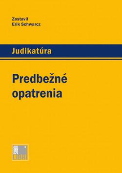 Predbezne opatrenia _ obalka