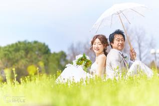 【鶴見緑地ロケーションフォト】結婚式写真撮影