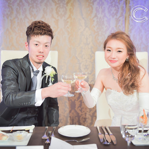 【おすすめ*乾杯ショット】結婚式情報/結婚式写真撮影
