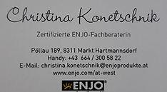 Visitenkarte mit Logo Christina Konetsch