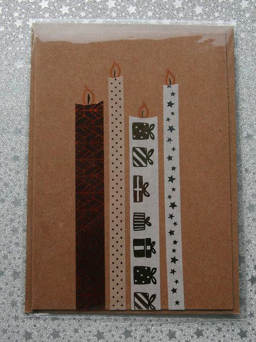 Weihnachtskarte 4 Kerzen