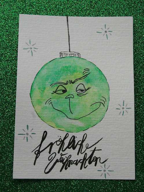 Fröhliche Weihnachten Grinch Postkarte