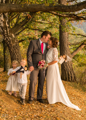 Herbst-Brautpaar