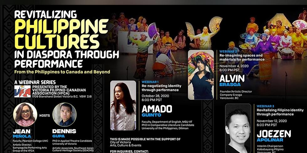 Free Webinar Series: Revitilizing Philippine Cultures in Diaspora through Performance