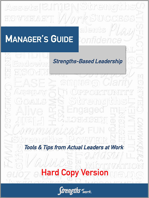 Manager's Guide to Strengths-Based Leadership - Hardcopy