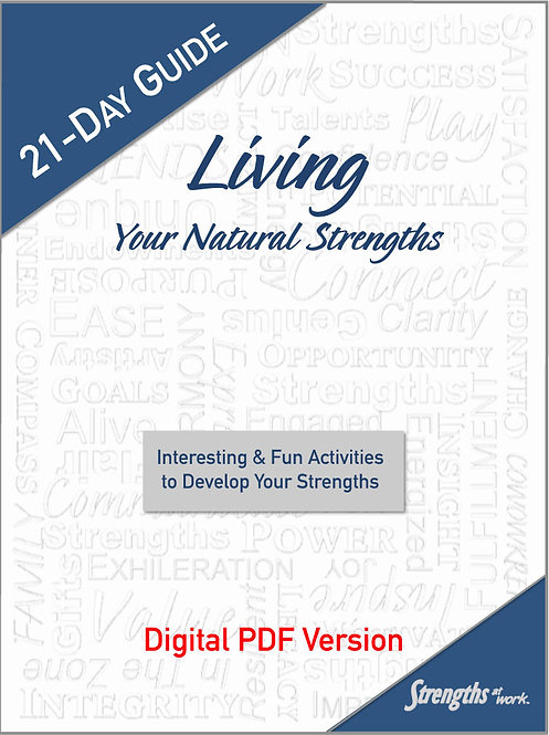 21-Day Guide to Living Your Strengths - digital PDF
