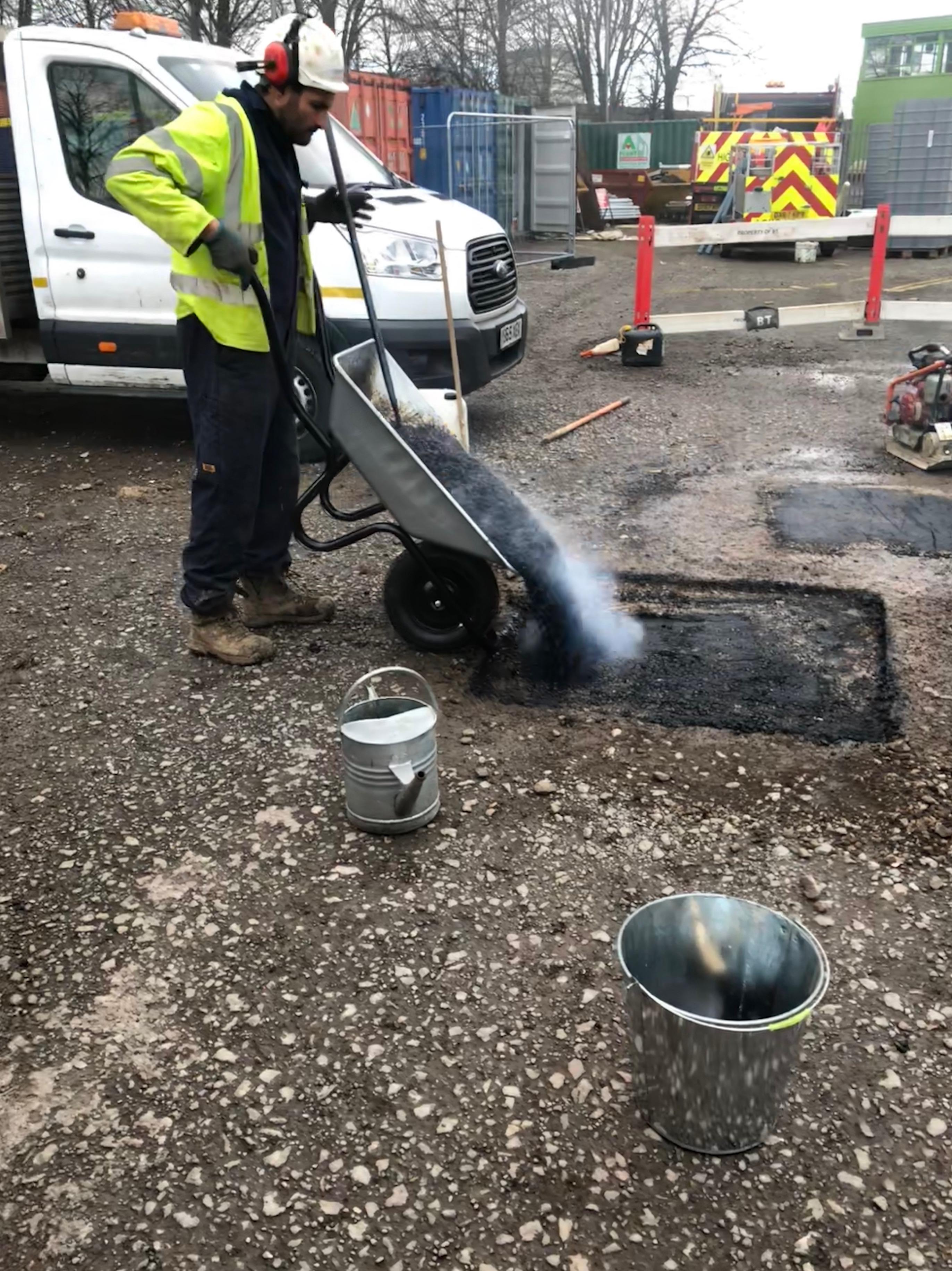 Pouring Asphalt