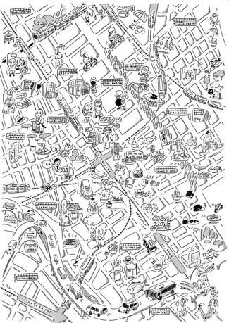 CALICO LEGAL行政書士事務所 パンフレット  人形町地図