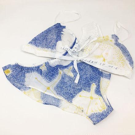 進士遙 Haruka Shinji イラスト illustration デザイン design テキスタイル textile 下着 underwear チーリン qilin 星空 starry sky