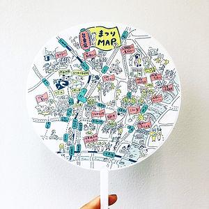 進士遙 Haruka Shinji イラスト illustration デザイン design 地図  MAP うちわ 台東区 ときめきたいとうフェスタ