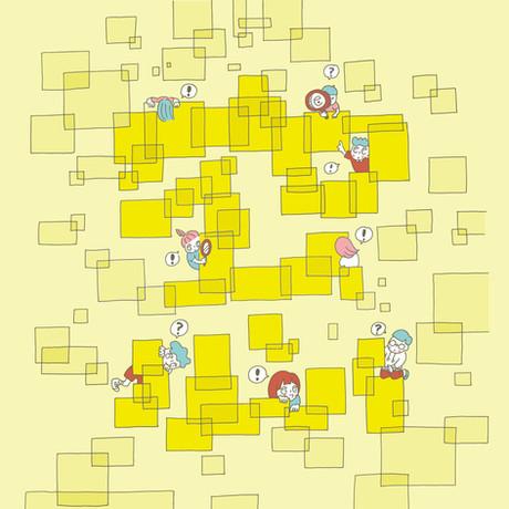 帝京大学総合博物館 企画展「みんなでたのしむあーと 窓からはじまる探検!」イラスト