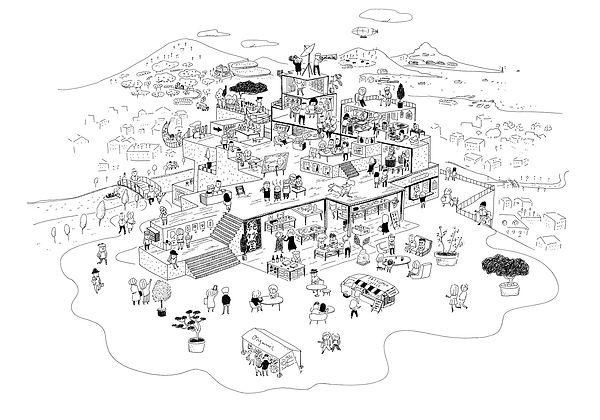 進士遙 Haruka Shinji イラスト illustration デザイン design メインイメージ 会社案内 絶妙堂 conectope ECサイト