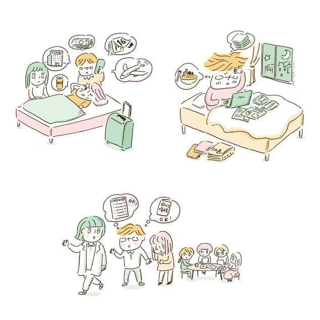 千葉大学看護学研究科 コンテンツ報告書イラスト