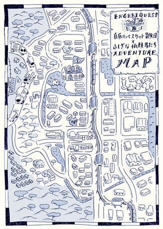 演劇クエスト 白昼のバスケット冒険団とふしぎな依頼者たち MAP