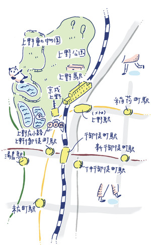 シティリビング 上野特集 イラスト