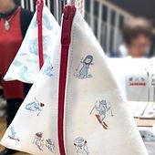 進士遙 Haruka Shinji イラスト illustration ワークショップ workshop 手芸女子 handcraft 三角ポーチ pouch