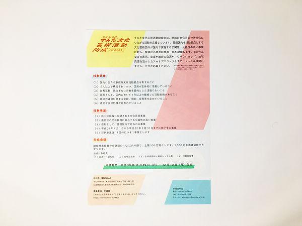 進士遙 Haruka Shinji イラスト illustration チラシ leaflet すみだ文化芸術活動助成金