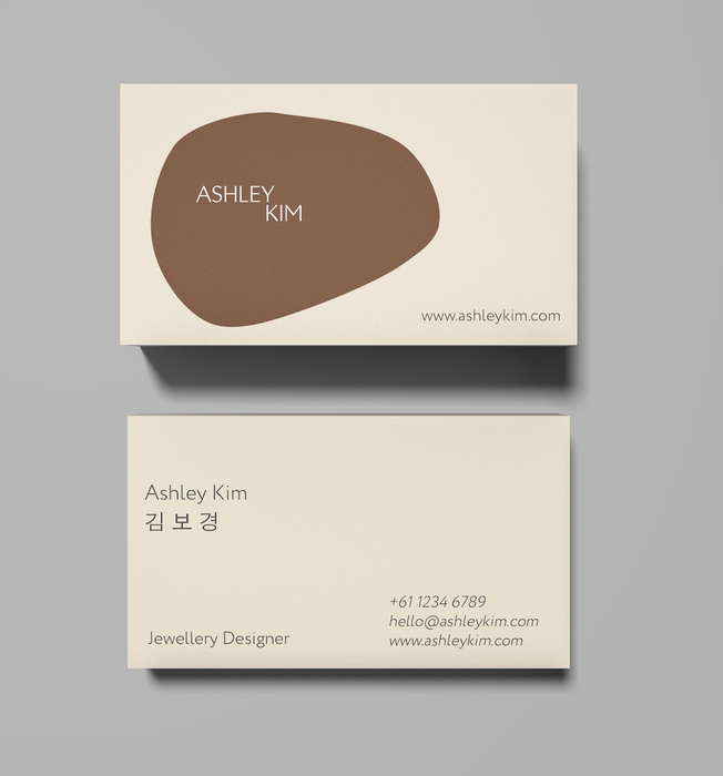 Business cards. 400gsm, Velvet satin laminate
