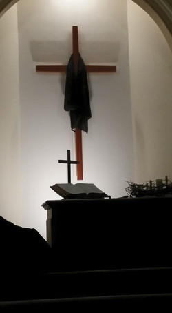Good Friday Draped Cross