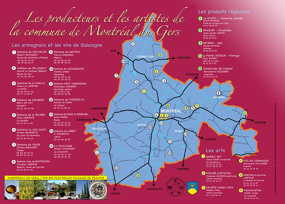 Producteurs et artistes de Montréal du Gers