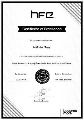 Nathan_gray_Level 3 Award in Adapting Ex
