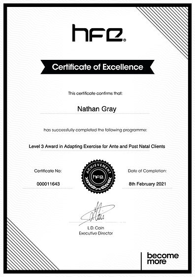 Nathan_gray_Level 3 Award in Adapting Ex