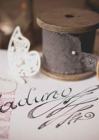 Kalligraphie Einladung Hochzeit
