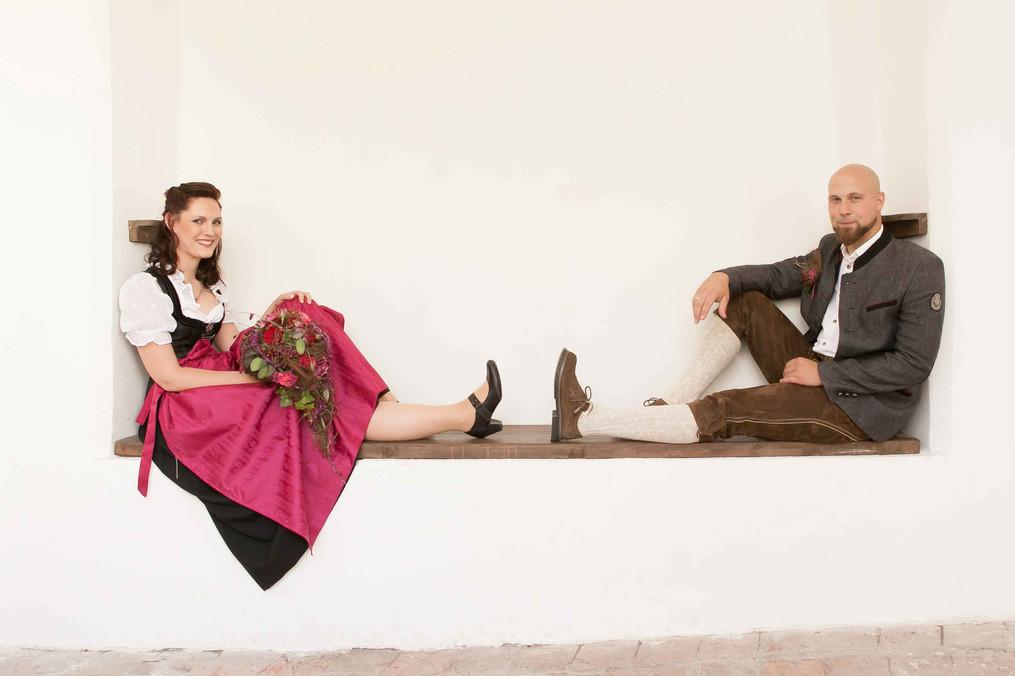 HOCHZEIT Bettina&Josef Brautpaar Frech